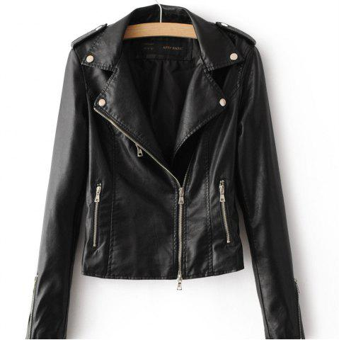 Discount Spring and Autumn New Women PU Leather Women Short Slim Little Coat Motorcycle Clothing