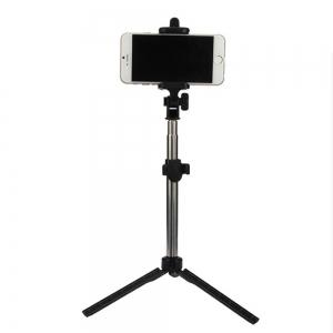 Extendable Monopod with Tripod Stand Bluetooth Selfie Stick for iPhone and Android -