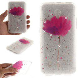 Song For Orchid Diamond Soft Clear IMD TPU Phone Casing Mobile Smartphone Cover Shell Case for ZTE Blade V7 -