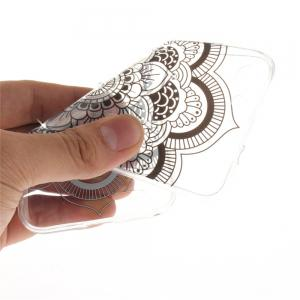 Black sunflower Diamond Soft Clear IMD TPU Phone Casing Mobile Smartphone Cover Shell Case for ZTE Blade X7 -