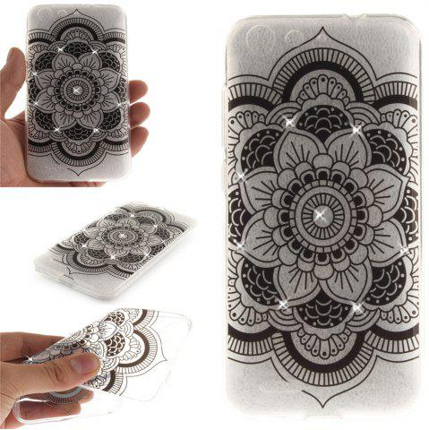Chic Black sunflower Diamond Soft Clear IMD TPU Phone Casing Mobile Smartphone Cover Shell Case for ZTE Blade X7