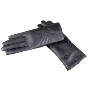 Touch Screen Lady Warm Leather Gloves Cute Three Line Design in Autumn and Winter -