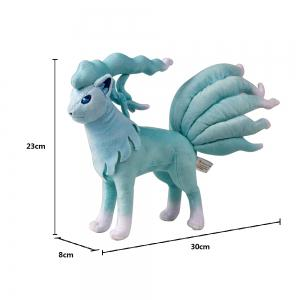 Kawaii Favorable Amime Character Toy Blue Ninetales Plush Soft Short Plush Stuffed for Children Companion Gift -