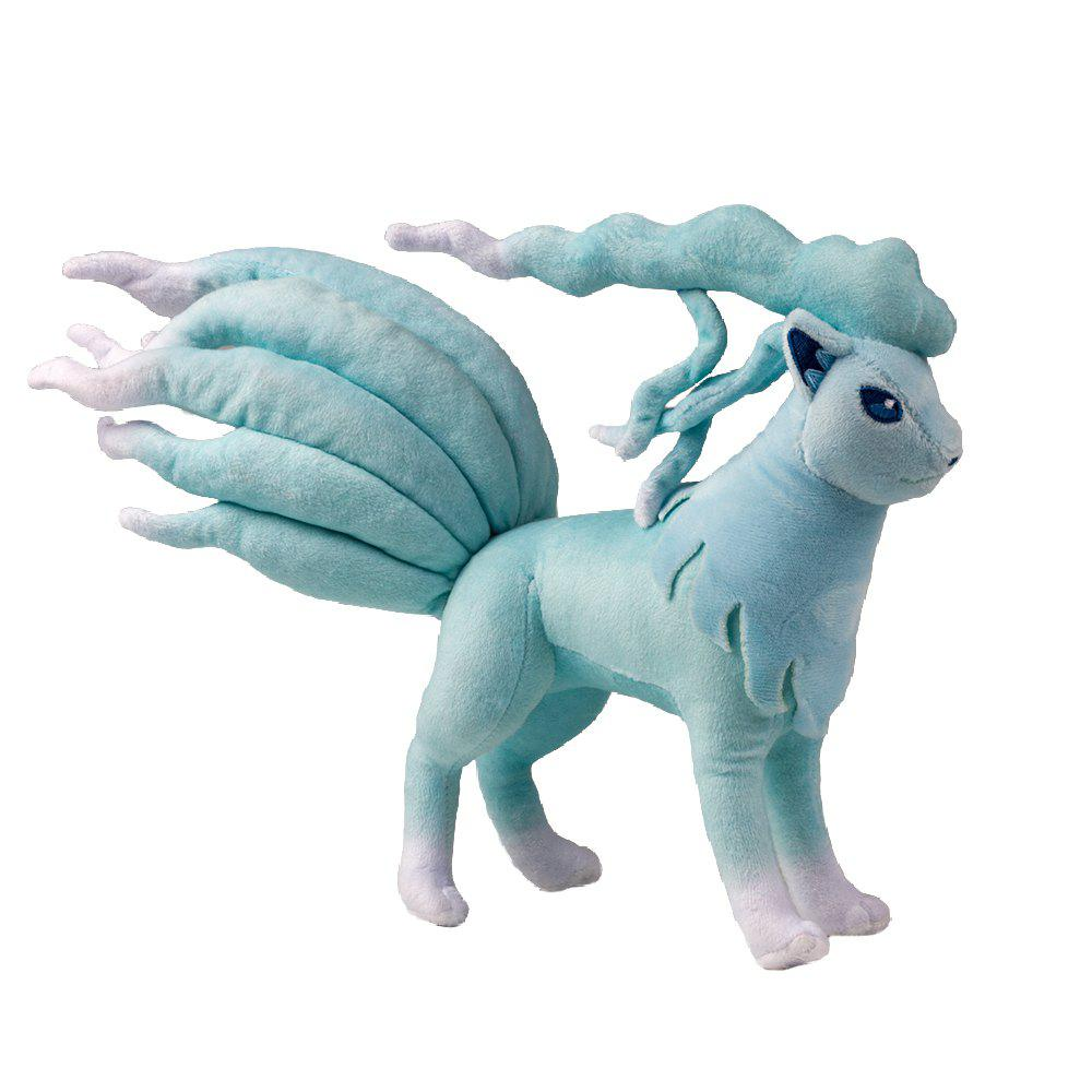 Discount Kawaii Favorable Amime Character Toy Blue Ninetales Plush Soft Short Plush Stuffed for Children Companion Gift