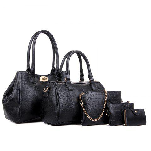 Trendy Five Times Fashion Crocodile Grain Lash Package Bags