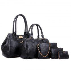 Five Times Fashion Crocodile Grain Lash Package Bags -