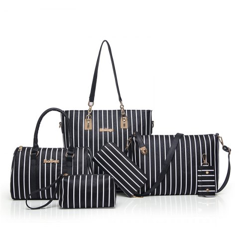 Sale Six Woolly Fashionable Stripe Lash Package Bags