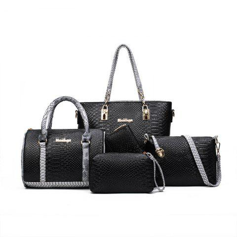 New Five Times Fashion Snakeskin Grain Color Lash Package Bags