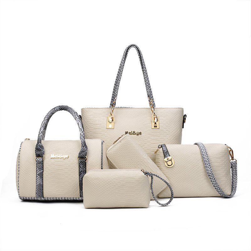 Outfit Five Times Fashion Snakeskin Grain Color Lash Package Bags
