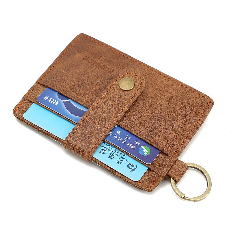 Brown New Vinage Genuine Leather Credit Card&id Card Holder Wallet ...