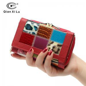 Genuine Leather Women Wallets Coin Pocket Fashion Women Wallet Patchwork Purse Female Long Design -