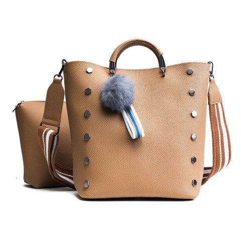 Shops The Embossed Bucket Bag 2018 New Six Angle Rivet Bag Female Bag Casual Shoulder Bag Tide