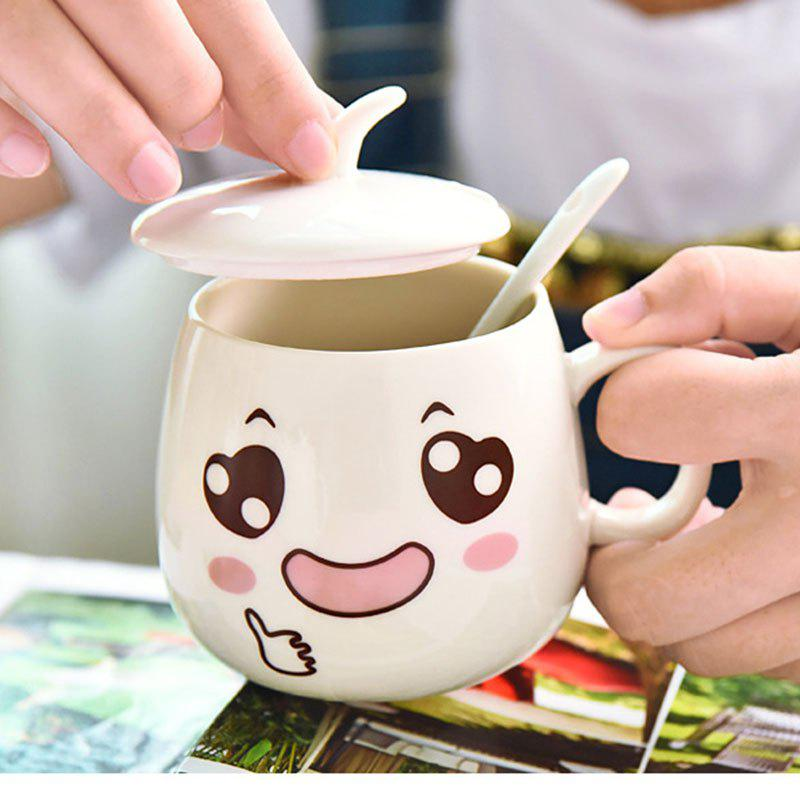 Best eramicsExpressio Handle mug with cover of coffee cup  Facial expression    2  x  pcs