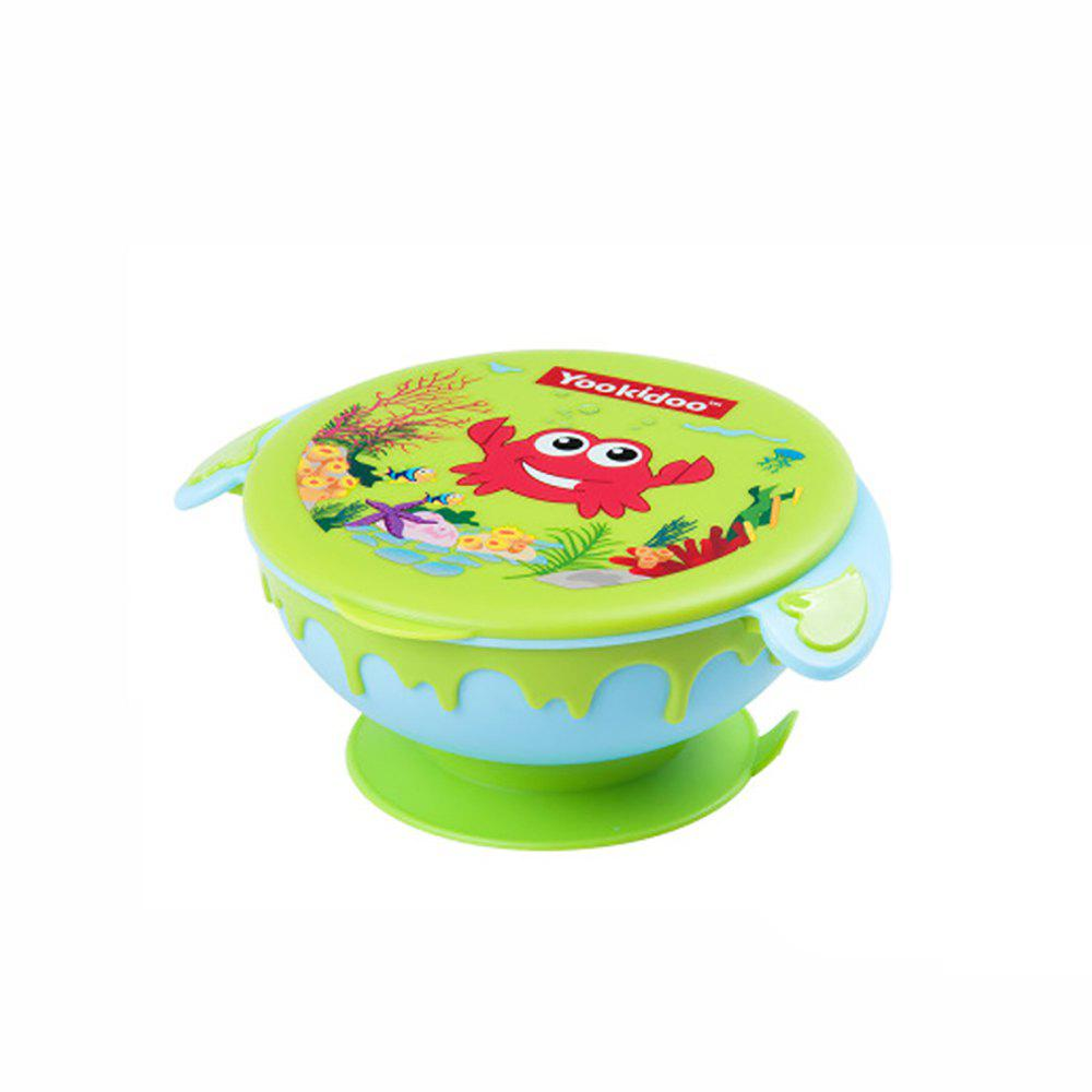 Fancy Children's cartoon stainless steel sucker bowl MY0769-pangxie