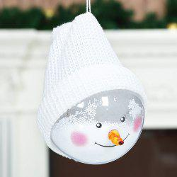 Christmas decoration snowman transparent ball decoration doll Christmas tree pendant -
