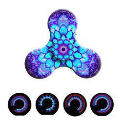Bluetooth 3.0 Speaker Fidget Spinner Funny Stress Reliever Communication Tool with LED Lights -