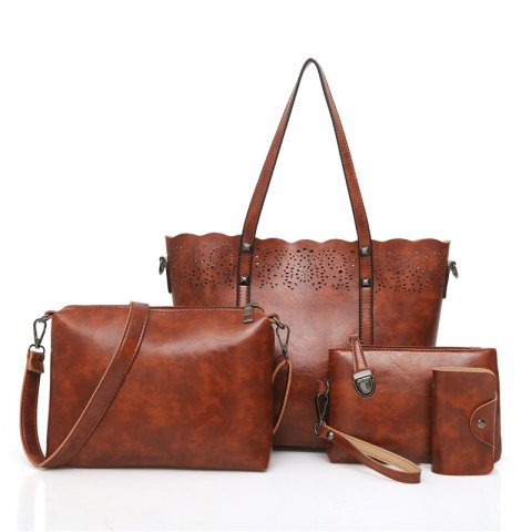 Online Retro Hollow Three Pieces Shoulder Messenger Bag