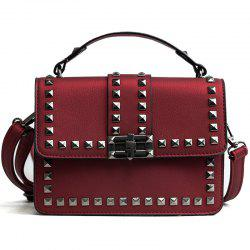 Shoulder Messenger Vintage Postman Rivets Small Square Bag Handbag -
