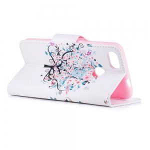 Small Tree Painted PU Phone Case for HUAWEI P9 Lite Mini / Y6 Pro 2017 -