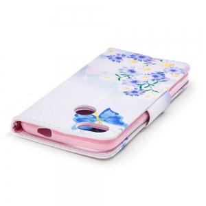 Butterflies in Love Painted PU Phone Case for HUAWEI P9 Lite Mini / Y6 Pro 2017 -
