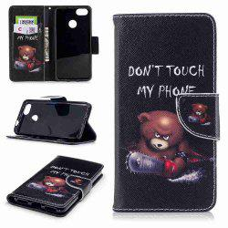 Bear Painted PU Phone Case for HUAWEI P9 Lite Mini / Y6 Pro 2017 -