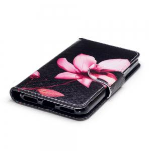 Flower Painted PU Phone Case for HUAWEI P9 Lite Mini / Y6 Pro 2017 -