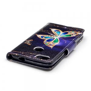 Big Butterfly Painted PU Phone Case for HUAWEI P9 Lite Mini / Y6 Pro 2017 -