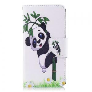 Panda Bamboo Painted PU Phone Case для HUAWEI P9 Lite Mini / Y6 Pro 2017 -