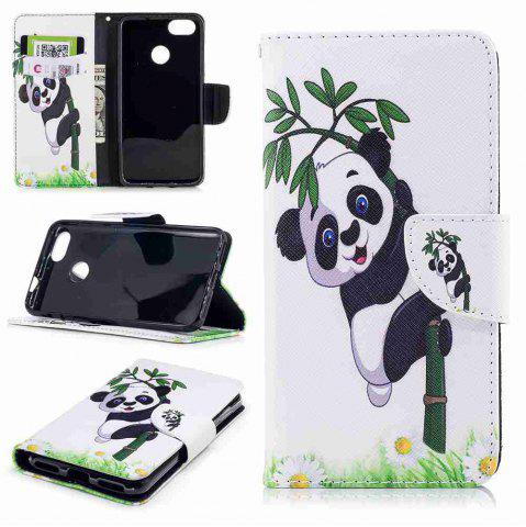 Panda Bamboo Painted PU Phone Case для HUAWEI P9 Lite Mini / Y6 Pro 2017