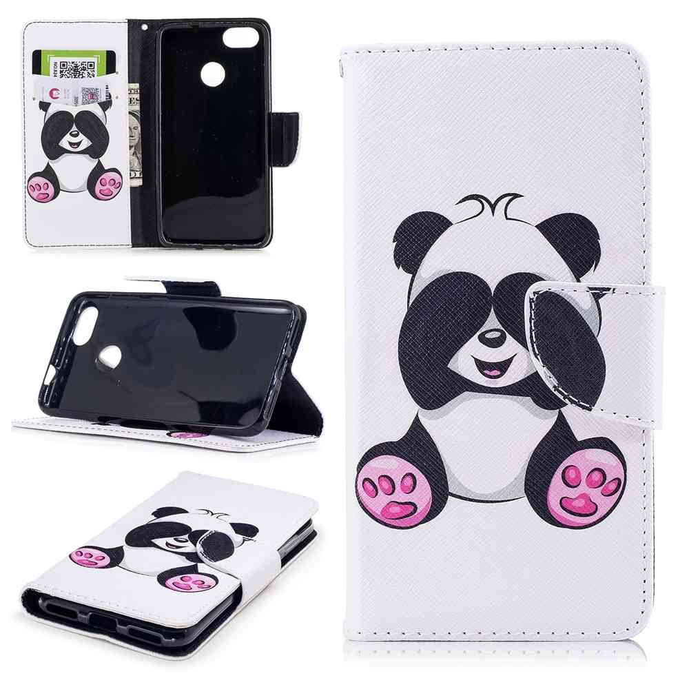 Panda Painted PU Phone Case для HUAWEI P9 Lite Mini / Y6 Pro 2017