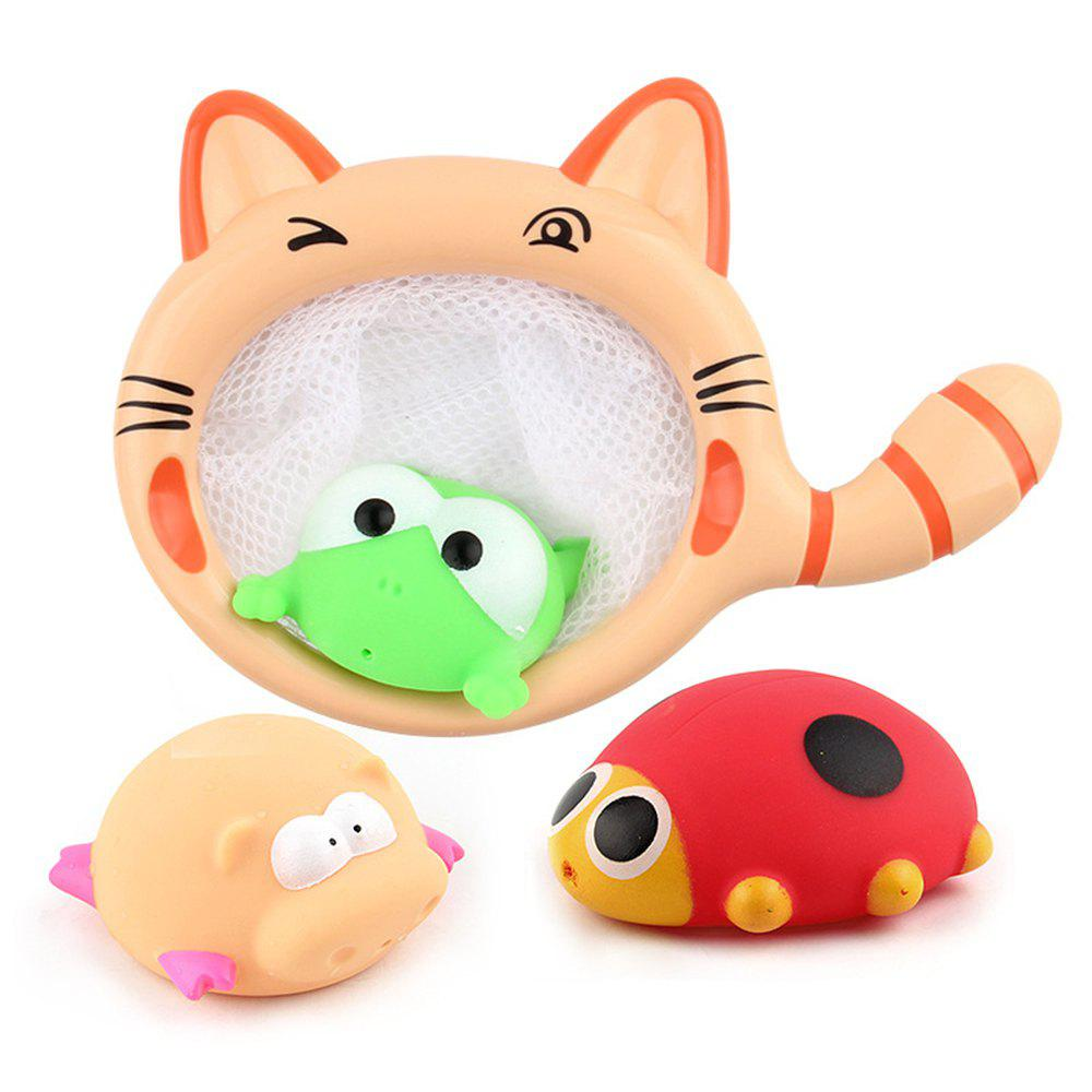 Red children 39 s pond plastic fish playing cat catch fish for Swimming fish cat toy