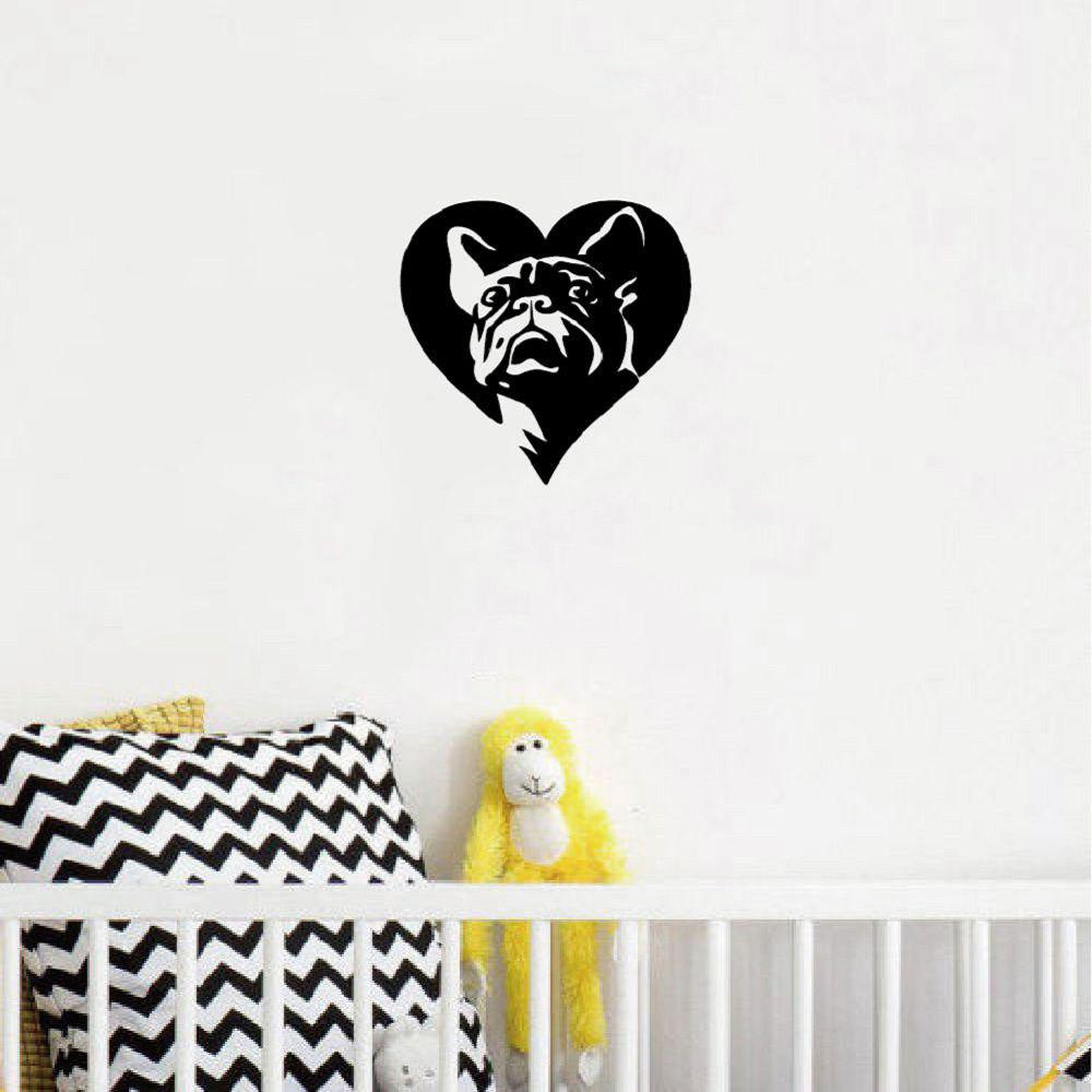 DSU Creative French Bulldog Wall Sticker Creative Cartoon Animal Vinyl Wall Decal 245817601