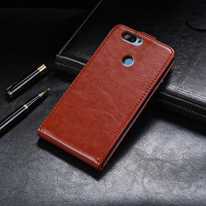 Up and Down Crazy Horse Stripes Pu Leather Case for Elephone P8 Mini -