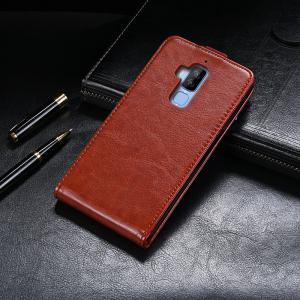 Up and Down Crazy Horse Stripes Pu Leather Case for Homtom S8 -