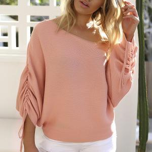 Off Shoulder Casual Sweater -