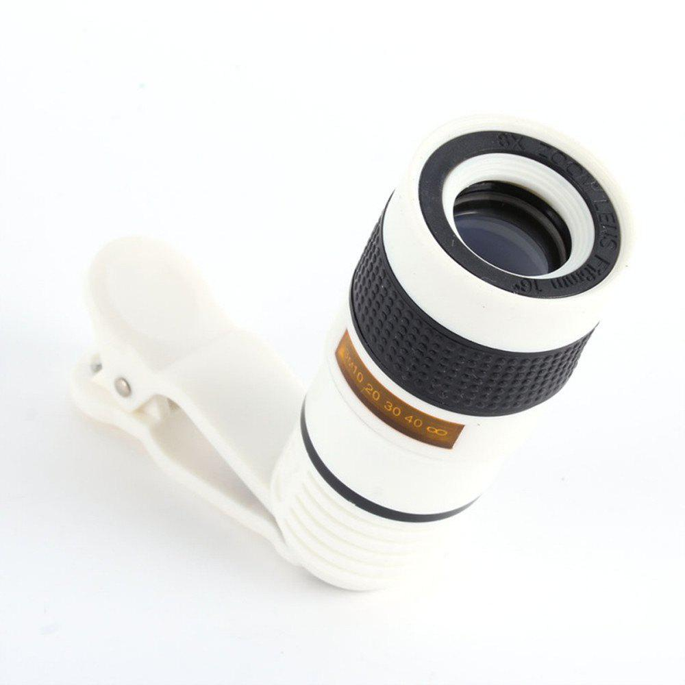 Fashion Clip 8X Zoom Mobile Phone Telescope Lens Telephoto External Smartphone Camera Lens for IPhone for Sumsung  Huawei