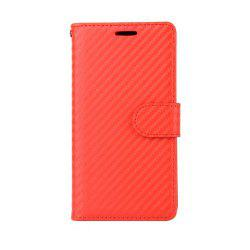 Carbon Fiber Pattern Flip PU Leather Wallet Case for Huawei Mate 9 -