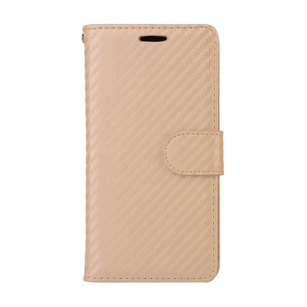 Latest Carbon Fiber Pattern Flip PU Leather Wallet Case for Huawei Mate 9