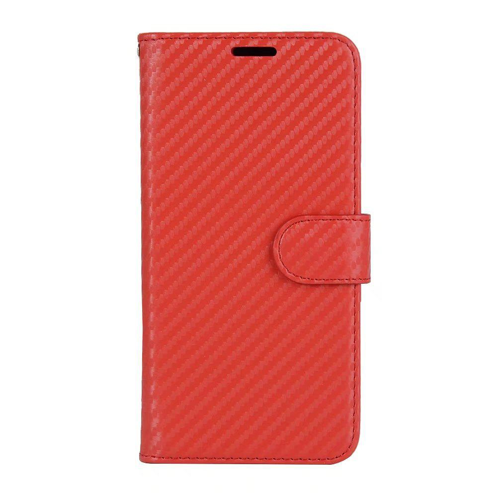 Trendy Carbon Fiber Pattern Flip PU Leather Wallet Case for Huawei Mate 10