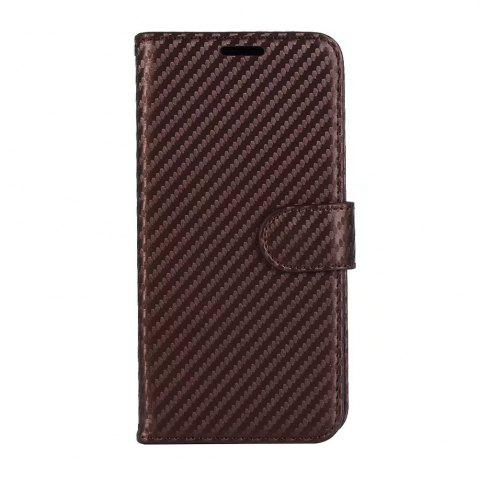 Chic Carbon Fiber Pattern Flip PU Leather Wallet Case for Huawei Mate 10 Pro