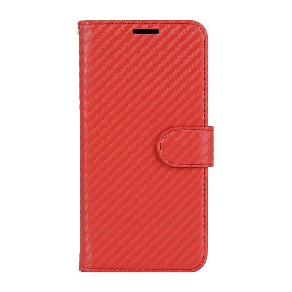 Hot Carbon Fiber Pattern Flip PU Leather Wallet Case for Huawei Mate 10 Pro