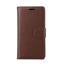 Carbon Fiber Pattern Flip PU Leather Wallet Case for Huawei Mate 9 Pro -