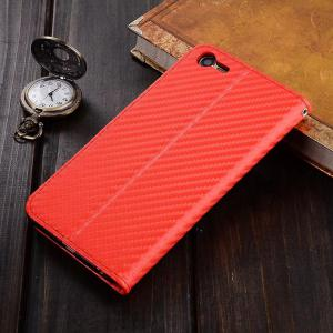 Carbon Fiber Pattern Flip PU Leather Wallet Case for Meizu Mei E2 -