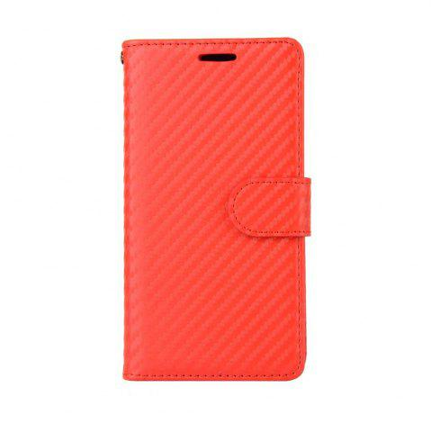 Trendy Carbon Fiber Pattern Flip PU Leather Wallet Case for Meizu Mei E2