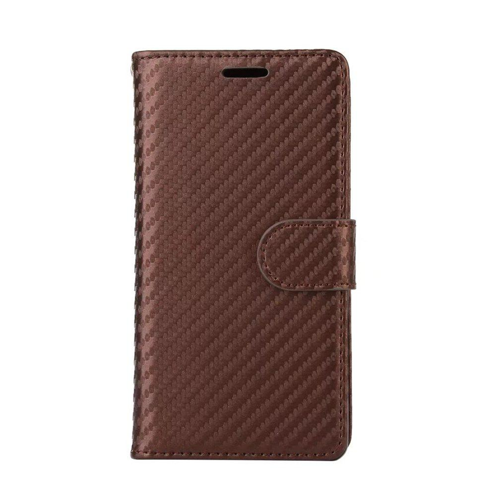 Latest Carbon Fiber Pattern Flip PU Leather Wallet Case for Meizu M5S