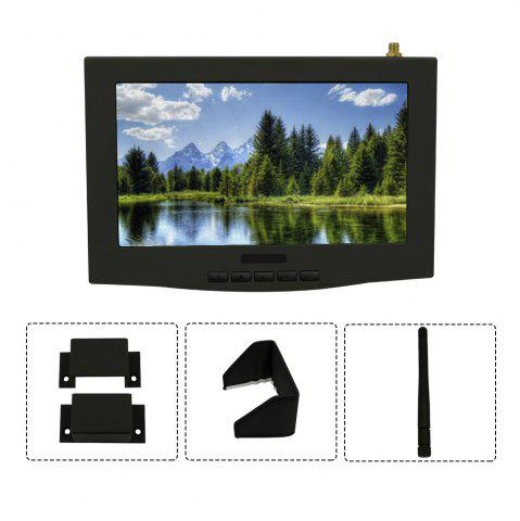 Best Lieber 7 inch LCD FPV Monitor Built-in 5.8G 40CH Single Wireless Receiver