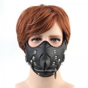 Hot Selling Punk Wind Cortical Individual Zipper Nose Locomotive Face Mask -