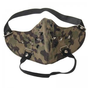 Fashion Punk Wind Camouflage Rivet Locomotive Face Mask -