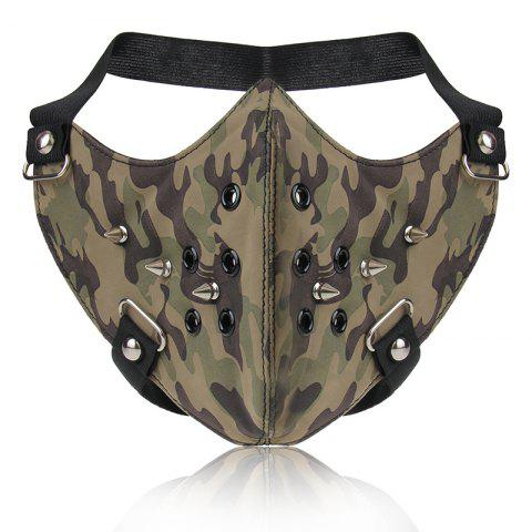 Buy Fashion Punk Wind Camouflage Rivet Locomotive Face Mask