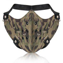 Mode Punk vent camouflage rivet locomotive masque facial -